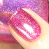 Garnet - Red Pink Holographic Polish - Gemstone Collection Pt. 1 - Holographics - Dam Nail Polish