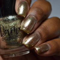 Madame Platinum - Light Gold Metallic Nail Polish - Precious Metals Collection - Dam Nail Polish