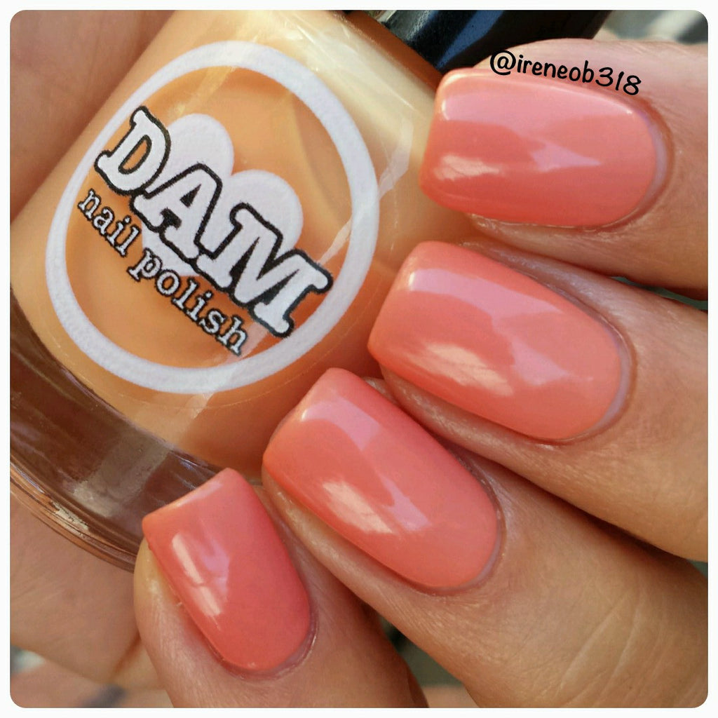 Citrus Sherbert - Orange Thermal Nail Polish - Yellow Thermal Nail ...