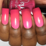 Pink Moscato Sangria - Dark Pink - Light Pink Thermal - Cocktail Party - Thermals - Dam Nail Polish