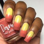Tequila Sunrise - Red - Yellow Thermal - Cocktail Party - Thermals - Dam Nail Polish