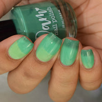 Grasshopper - Dark Green - Light Green Thermal - Cocktail Party - Dam Nail Polish