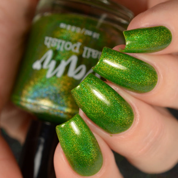 Periodot - Green Holographic Polish - Gemstone Collection Pt. 3 - Holographics - Dam Nail Polish