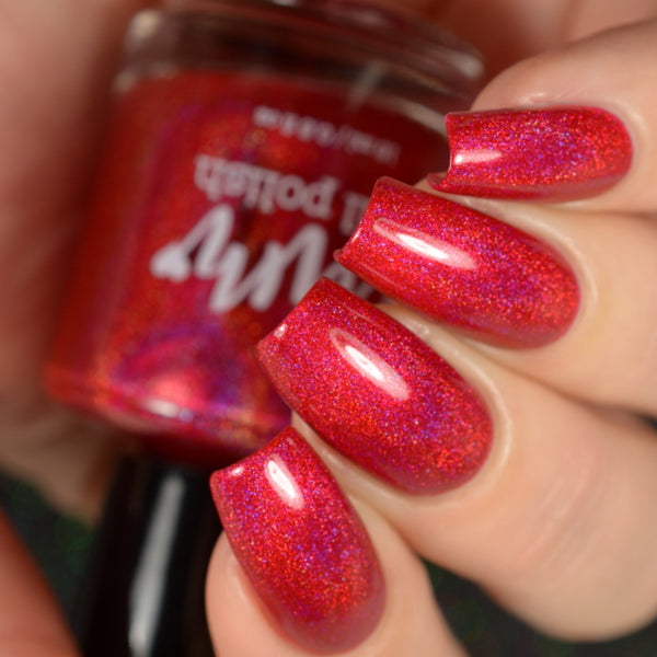 Ruby - Red Holographic Polish - Gemstone Collection Pt. 3 - Holographics - Dam Nail Polish