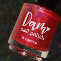 Ruby - Red Holographic Polish - Gemstone Collection Pt. 3 - Dam Nail Polish