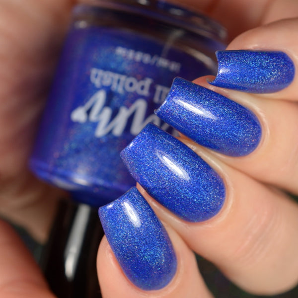 Sapphire - Blue Holographic Polish - Gemstone Collection Pt. 3 - Dam Nail Polish
