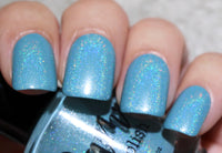 Turquoise - Light Blue Holographic Polish - Gemstone Collection Pt. 4 - Dam Nail Polish