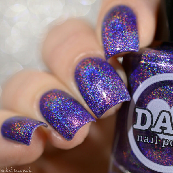 Amethyst - Gemstone Collection Pt. 1 - Violet Holographic Polish - Holographics - Dam Nail Polish