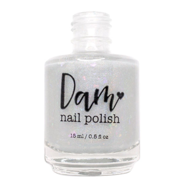 Opal - White Flakie Holographic Polish - Gemstone Collection Pt. 4 - Dam Nail Polish