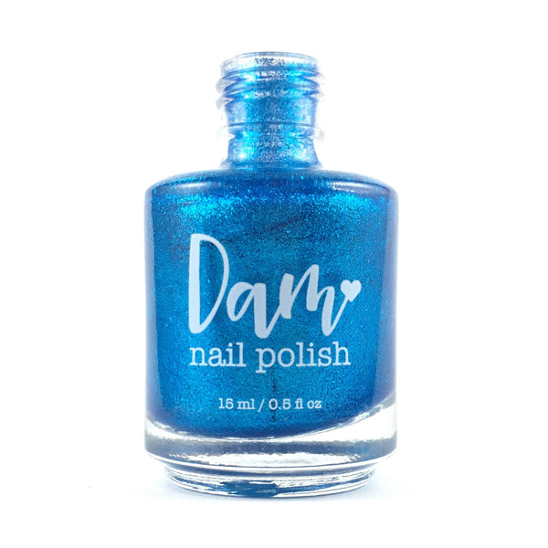 You Bora Bora Me - Blue Metallic Nail Polish - Precious Metals Collection - Metallic Flake - Dam Nail Polish