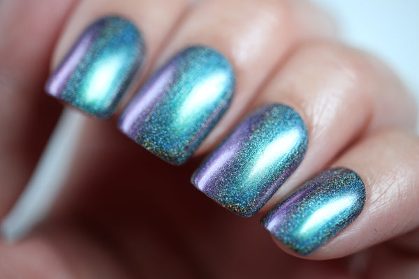 Galaxy Jam Sammich - Purple Green Multichrome Holographic Polish - Holochrome Collection - Dam Nail Polish