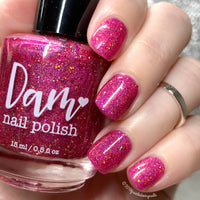 Merry Kissmas - Pink Glitter Holographic Polish - Valentine's Day Duo - Holographics - Dam Nail Polish