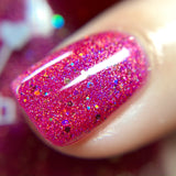 Merry Kissmas - Pink Glitter Holographic Polish - Valentine's Day Duo - Dam Nail Polish