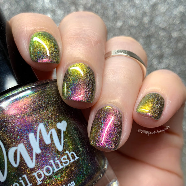 Noperoni - Pink Copper Multichrome Holographic Polish - Valentine's Day Duo - Holographics - Dam Nail Polish