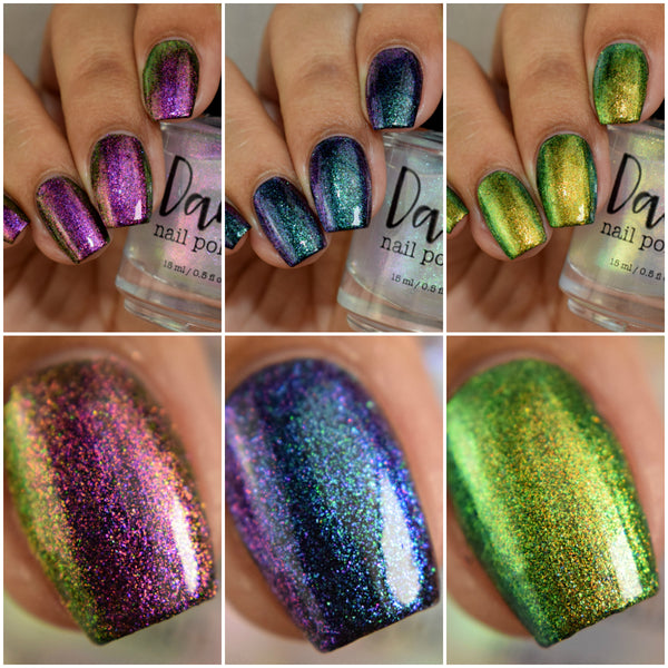 Pixie Dust Collection - Iridescent Toppers - Dam Nail Polish