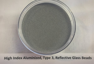 High Index Aluminized Powder Reflective Glass Beads