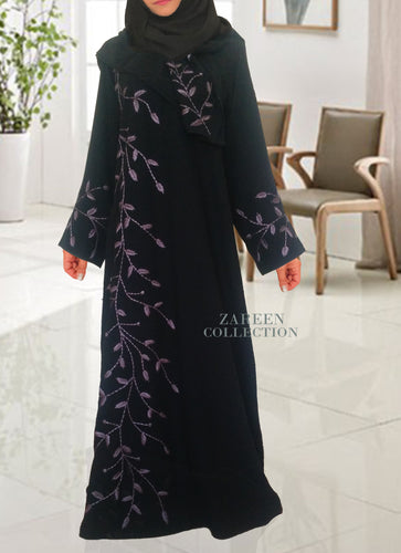 Zareen collection designer abayas exclusive designs shop abayas online buy hijabs online embroidered abayas, black abaya, shayla, modest clothing, islamic clothing, muslim clothing buy islamic dress online designer abaya online khaleeji style