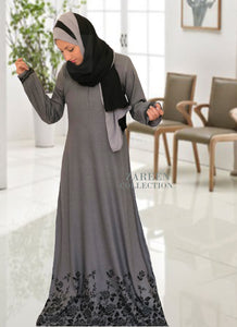 yara floral abaya dress from zareen collection designer abayas gray abaya with raised black velvet floral design, buy abayas online shop islamic clothing quality abayas and modest wear, islamic fashion, muslim fashion, islamic brand abaya, jilbab, hijab,  shukr, annah hariri, modanisa, sefamerve, urbanmodesty, abaya abaya for sale abaya fashion abaya addict abaya buth abayas online abaya dress abaya online usa abaya store abaya websites