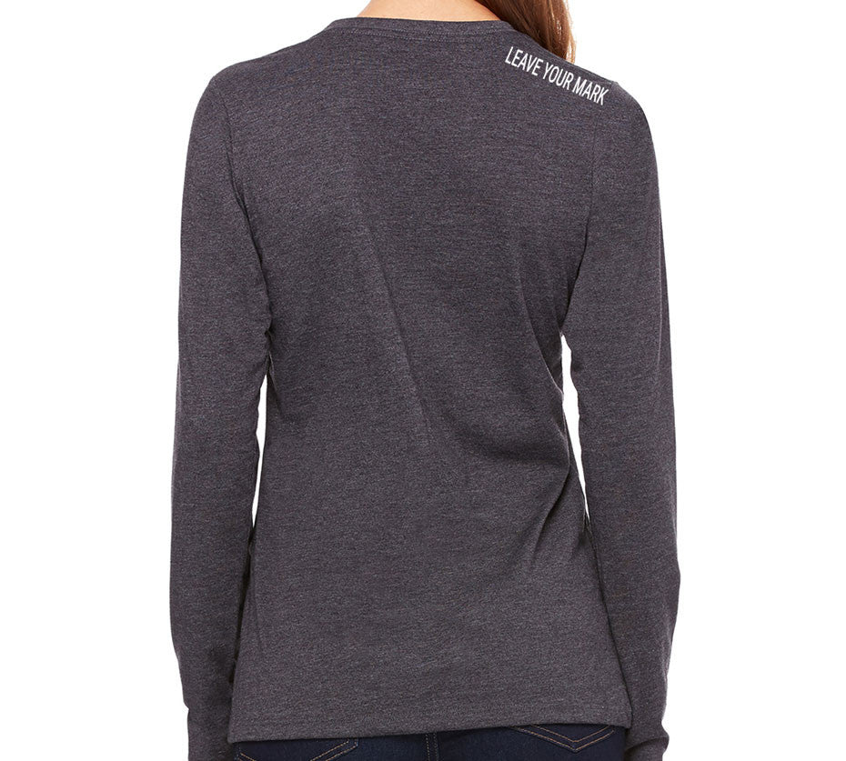 Women's Leave Your Mark Long Sleeve - Gray - Back