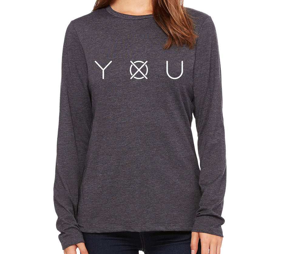 Women's Leave Your Mark Long Sleeve - Gray - Front