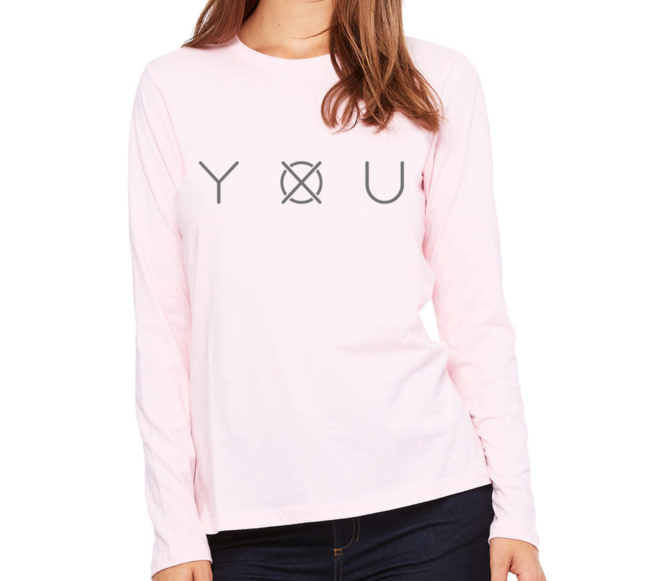 Women's Leave Your Mark Long Sleeve - Pink - Front