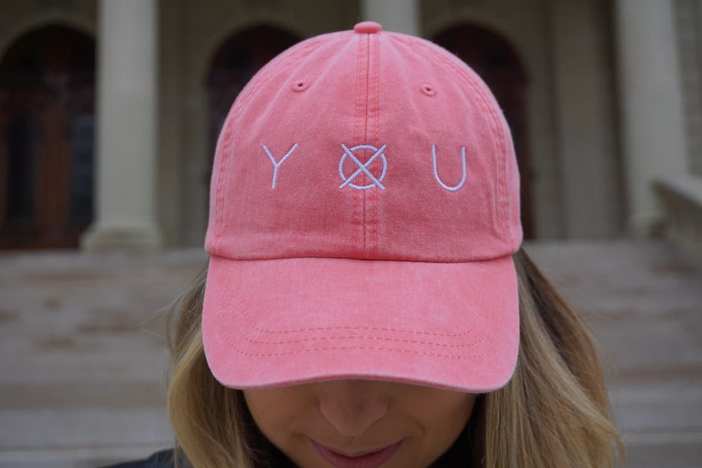 YXU Hat - Coral - Front
