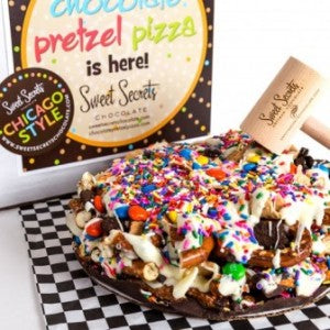 Chicago Style Chocolate Pretzel Pizza