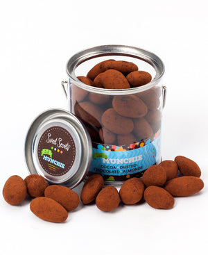 Chocolate dipped & dusted almonds-Sweet Secrets Chocolate