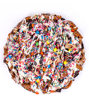 Party On Chocolate Pretzel Pizza-Sweet Secrets Chocolate