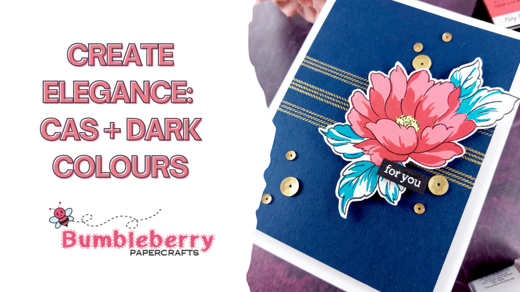 Create elegance with a CAS card and Dark colours - Altenew Stamps & inks