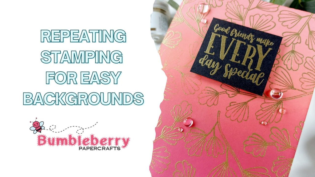 Repeat stamping for easy backgrounds - Catherine Pooler Ladies Who Lunch/Best Things in Life
