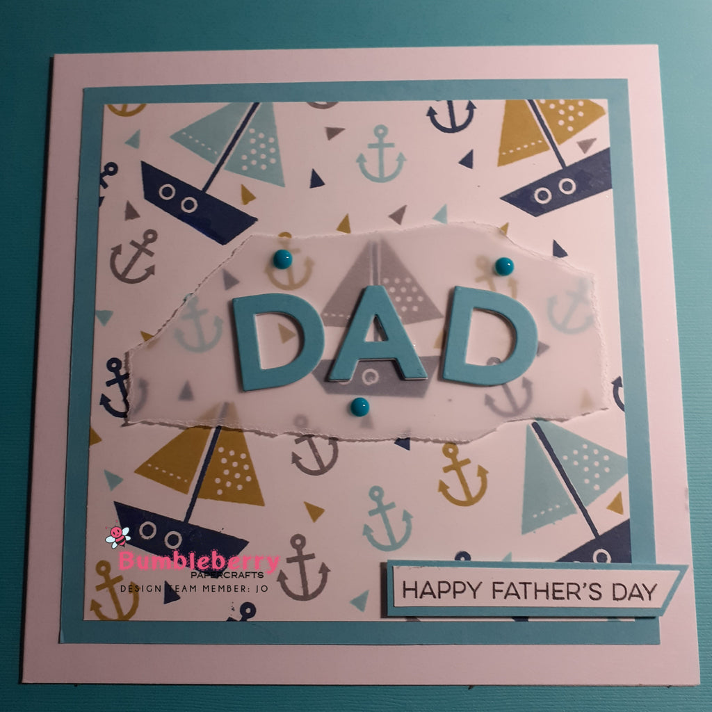 Fathers Day or Masculine Themed Card Using A Modern Colour Palette.