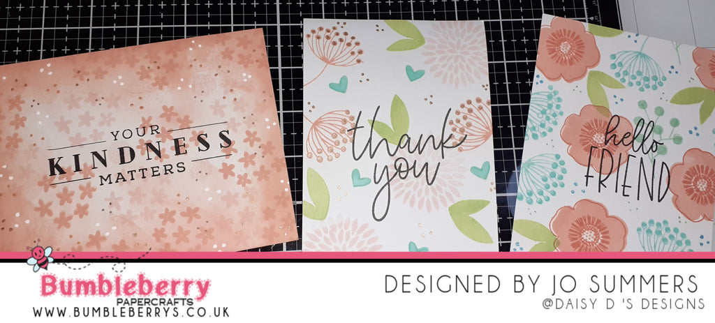 Creating Beautiful One Layered Cards with the Latest Release from Concord & 9th ,Buds and Blossoms Stamps and New Ink Colour Palette.