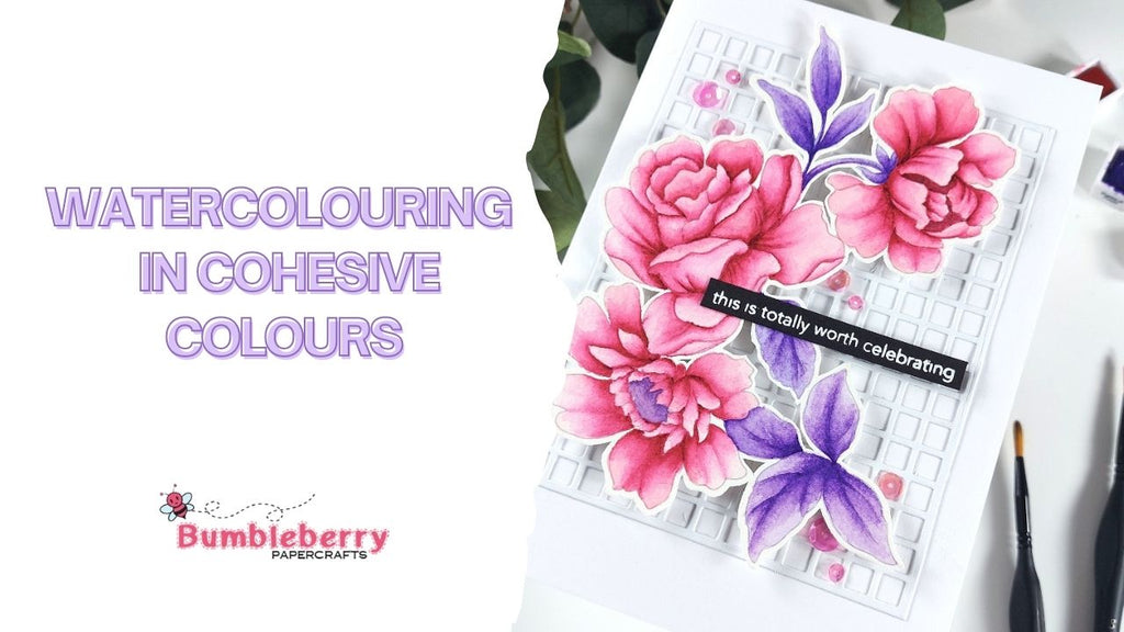 Watercolouring in cohesive colours - Altenew Watercolour colouring book & Brushes!