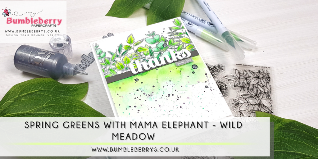 Spring greens with Mama Elephant - Wild Meadow