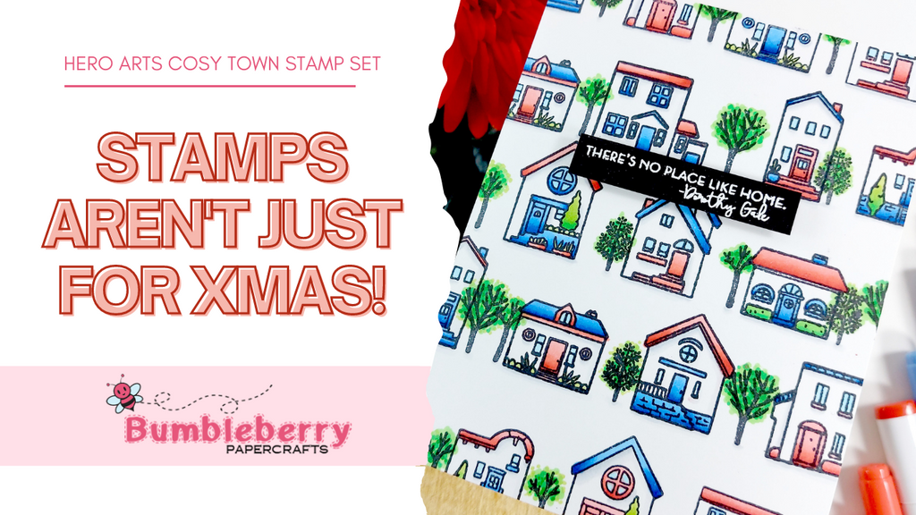 Stamps aren't just for Christmas - Create with the Cozy Town Stamp set!
