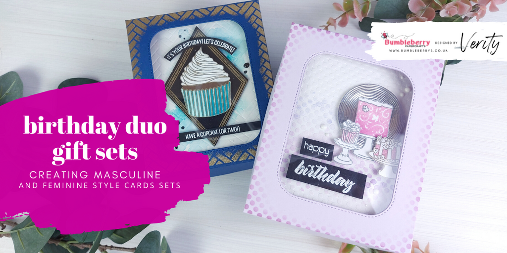 Creating masculine and feminine birthday card sets