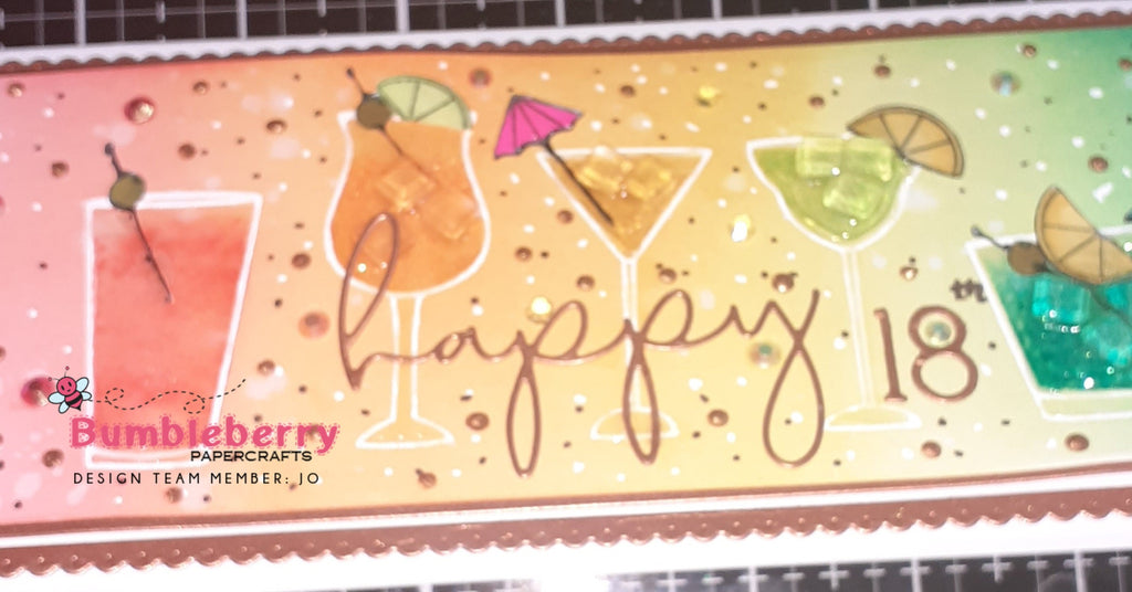 A Different Look To A Slimline Card, Using The Latest Release From Honey Bee Stamps