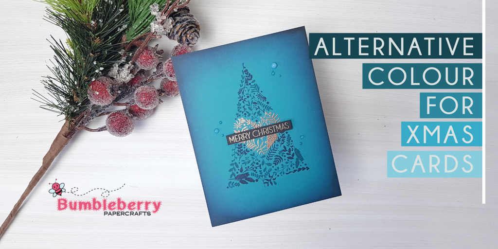 Alternative colour for Xmas cards - Altenew Festive Foliage