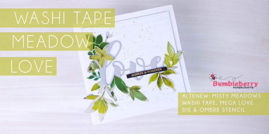 Washi tape meadow love - Misty Meadows