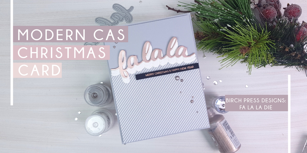 Modern CAS Christmas Card