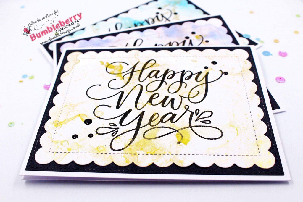 "Simple Happy New Year Cards Using Mama Elephant's ""Happy New Year Wishes"" Stamp Set!"