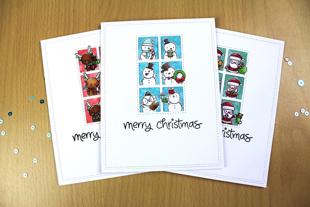 "Simple Christmas Cards Using Mama Elephant's ""Little Agenda"" Stamp Sets!"