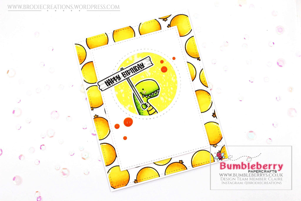 "Birthday Card Using Avery Elle's ""Peek-A-Boo Scary Pals"" Stamp Set!"