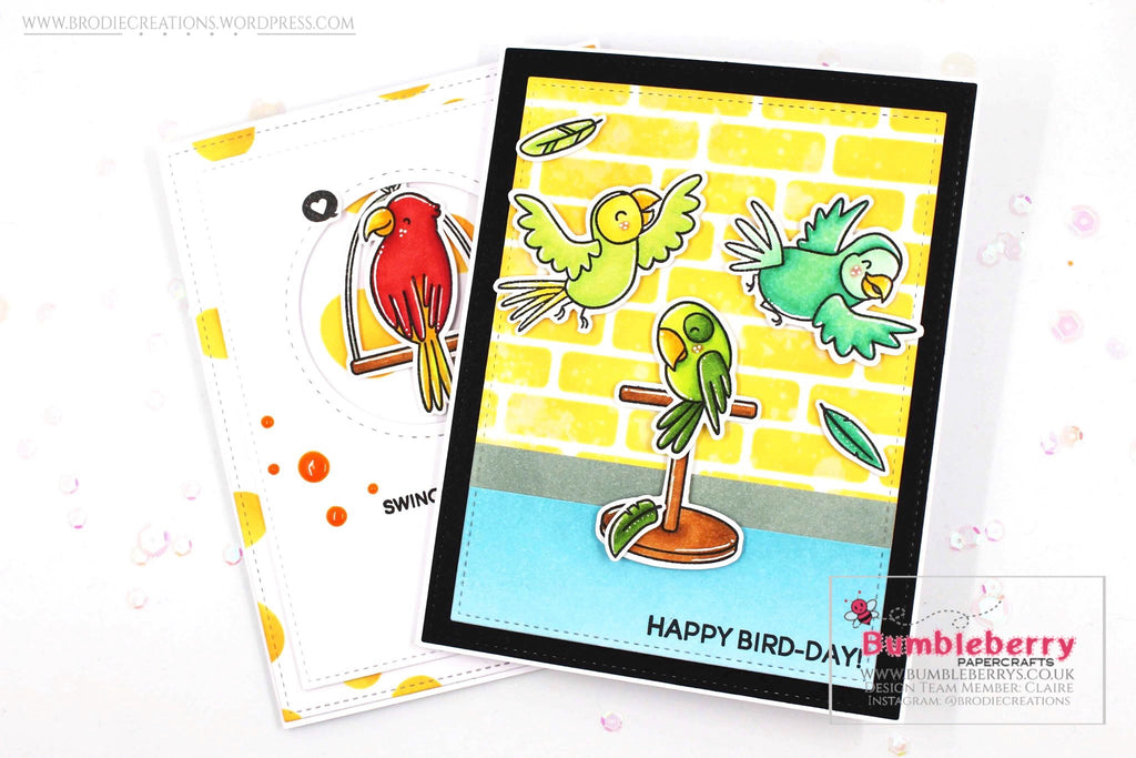 "Two Cards Using Heffy Doodle's ""Wingman"" Stamp Set!"
