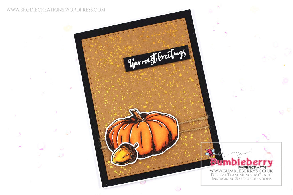 "Simple Card Using Concord & 9th's ""Autumn Harvest"" Stamp Set!"