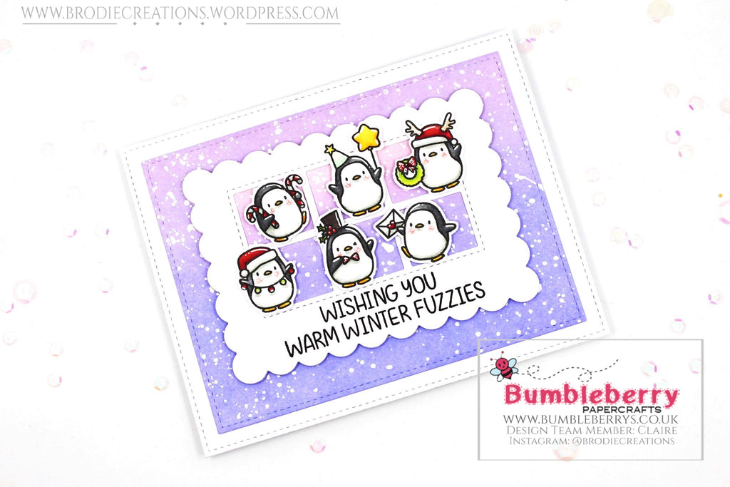 "Holiday Card Using Mama Elephant's ""Little Penguin Agenda"" Stamp Set!"