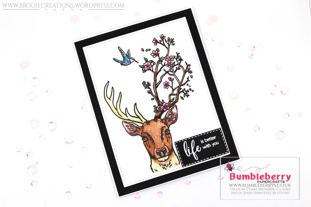 "Just Because Card Using Hero Arts' ""Staggering Branches"" Stamp Set!"