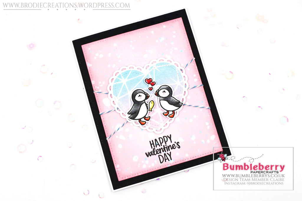 "Valentine's Day Card Using Lawn Fawn's ""Stud Puffin"" Stamp Set!"