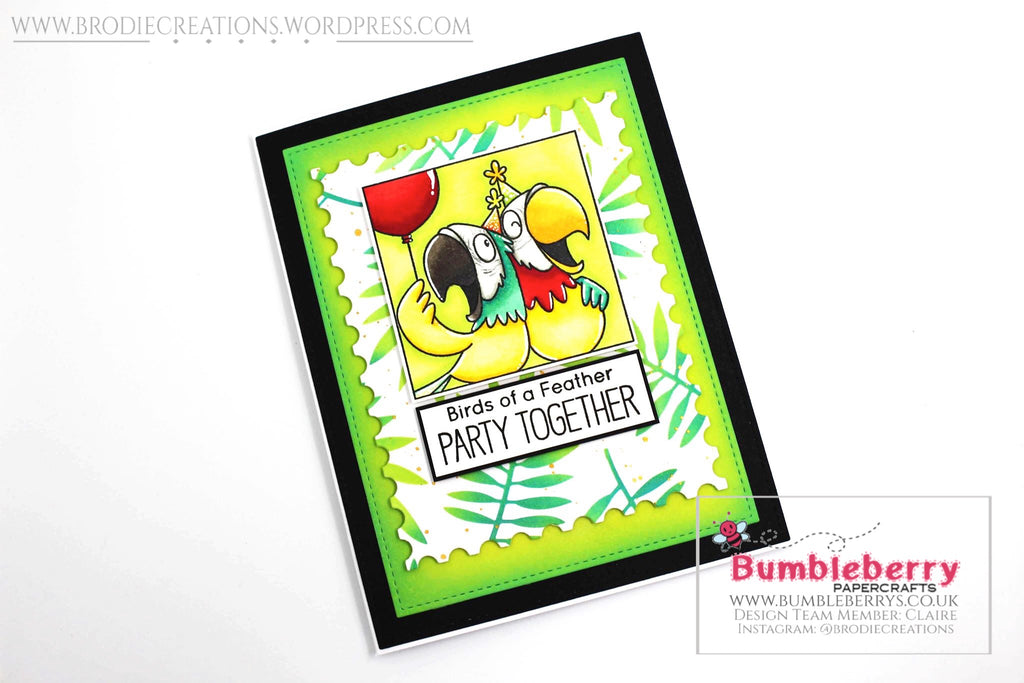 "Birthday Card Using MFT Stamps ""Picture Perfect Party Animals"" Stamp Set!"